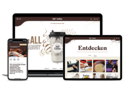 Corporate KMU Website Schaerer Coffee Blog, webgearing AG Solothurn