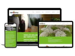 Corporate KMU Website Topfstyle AG, webgearing AG Solothurn