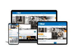 Corporate KMU Website Biral AG, webgearing AG Solothurn