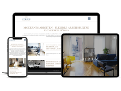 Corporate Website Atrium Immobilien, webgearing AG Solothurn