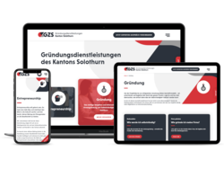 Corporate Website Gründerzentrum Kanton Solothurn, webgearing AG Solothurn