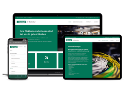 Corporate KMU Website Electro Ferrari, webgearing AG Solothurn