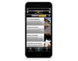 mobile App Gstaad Tourismus, webgearing AG