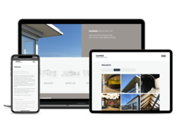 Corporate KMU Website Hammer Architekten, webgearing AG Solothurn