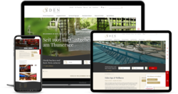 Corporate Hotel Website Eden Spiez, webgearing AG Solothurn