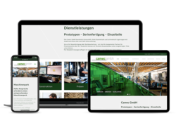 Corporate KMU Website Camec, webgearing AG Solothurn