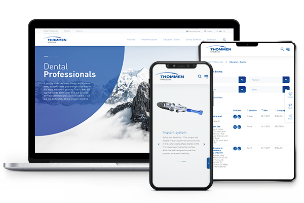 Corporate Website Thommen Medical