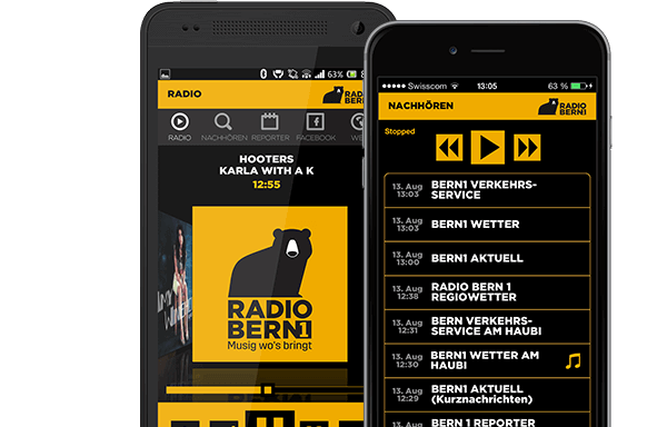 RADIO BERN1 goes mobile